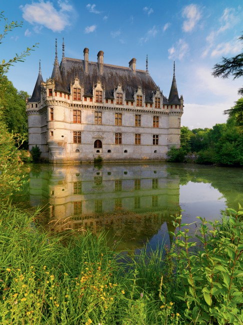 Puzzle Ravensburger Castillo de Azay le Rideau, Loira de 1500 Pi