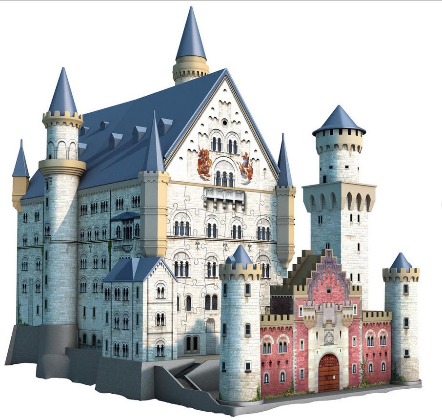 Puzzle Ravensburger Castillo del Rey Loco 3D 216 Piezas