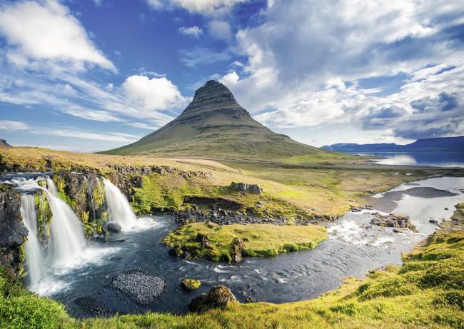 Puzzle Ravensburger Cataratas de Kirkjufell, Islandia 1000 Pieza