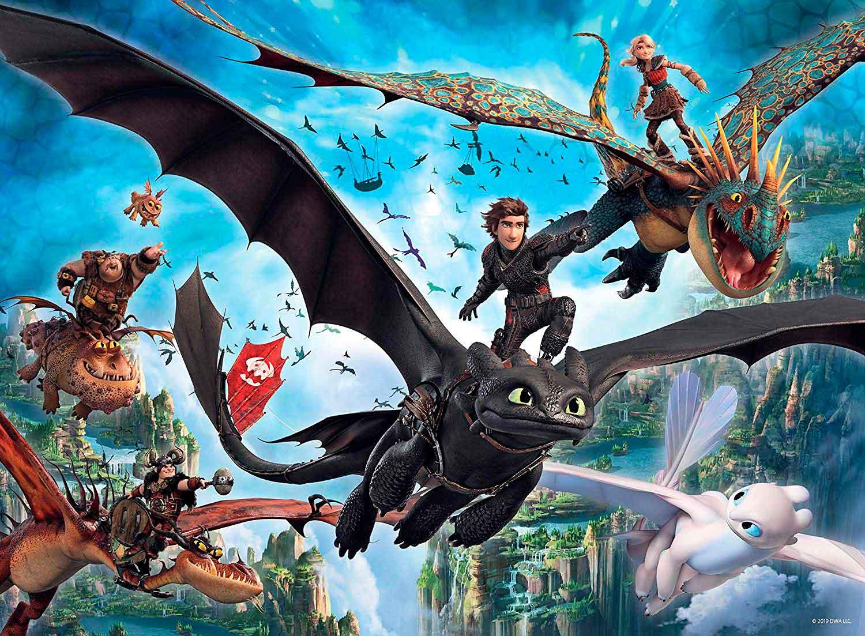 Puzzle Ravensburger CEATD3 El Mundo Oculto de Dragones A XXL 100