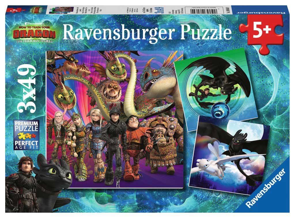 Puzzle Ravensburger CEATD3 El Mundo Oculto de 3x49 Piezas