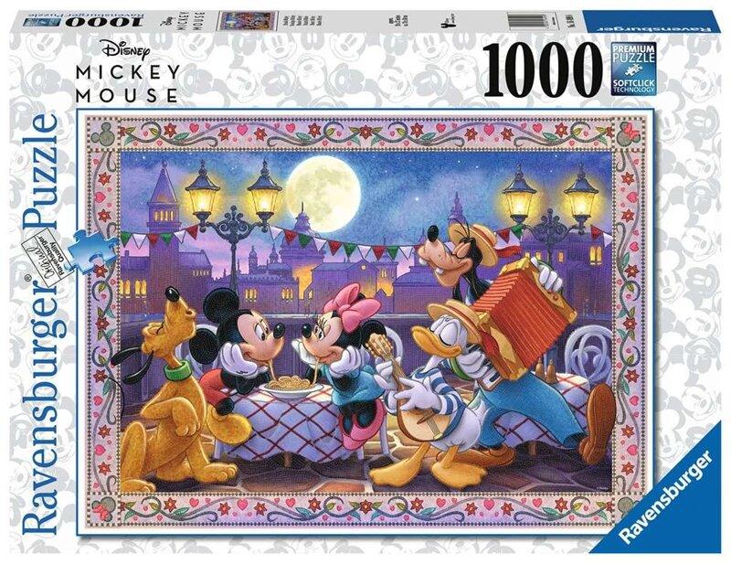 Puzzle Ravensburger Cena Romántica de Mickey y Minnie 1000 Pzs