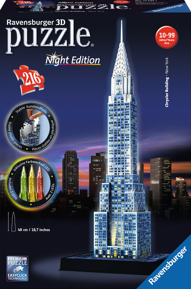 Puzzle Ravensburger 3D Chrysler Building Night Edition 216 Pieza