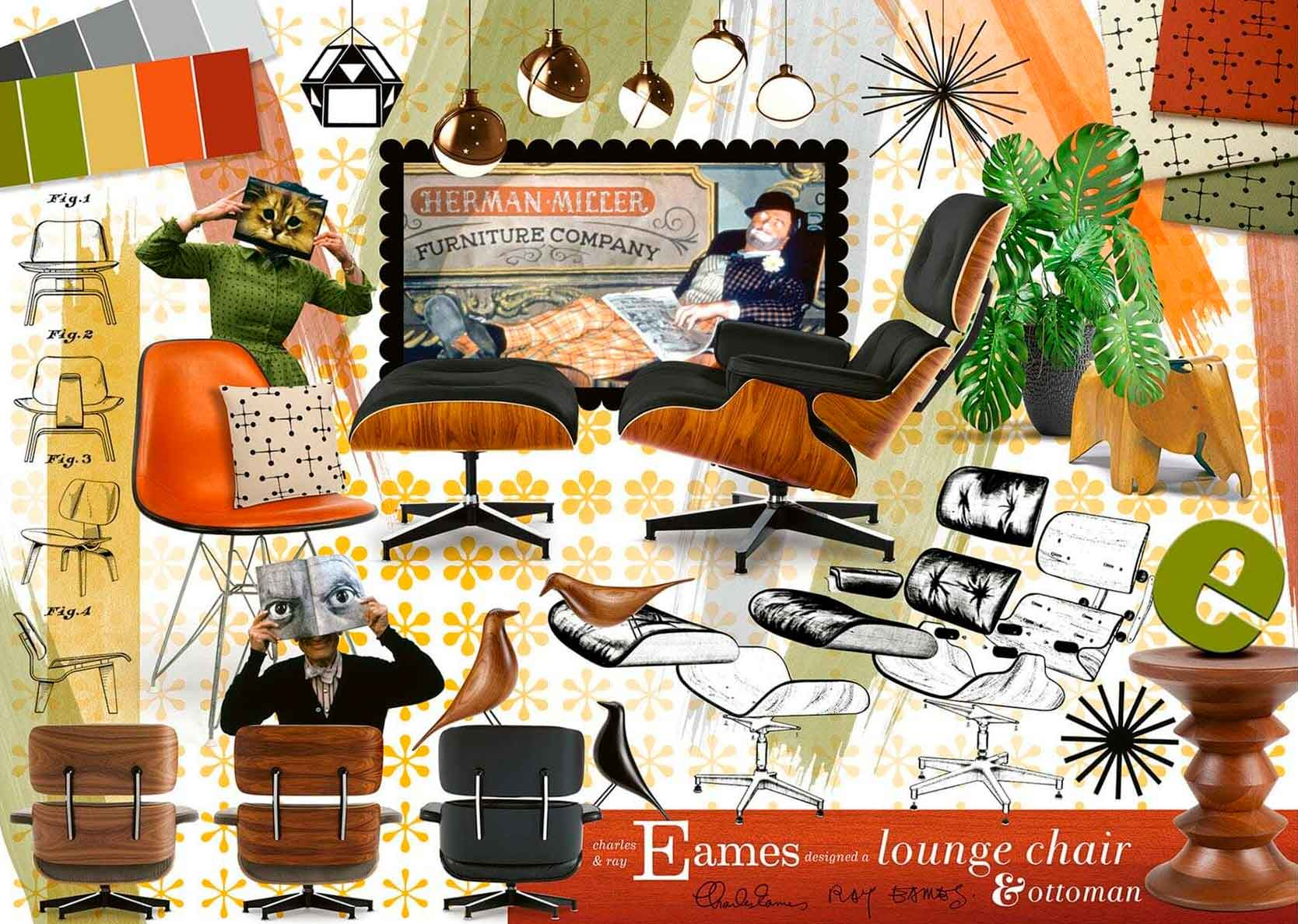 Puzzle Ravensburger Clásicos del Diseño de Eames de 1000 Piezas