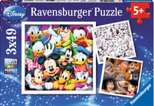Puzzle Ravensburger Clásicos Disney 3 x 49 Piezas