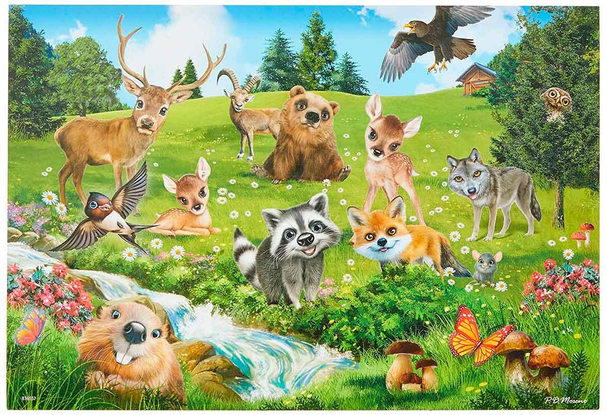Puzzle Ravensburger Club de Animales de 2x24 Piezas