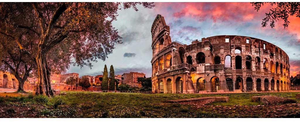 Puzzle Ravensburger Coliseo al Atardecer de 1000 Piezas