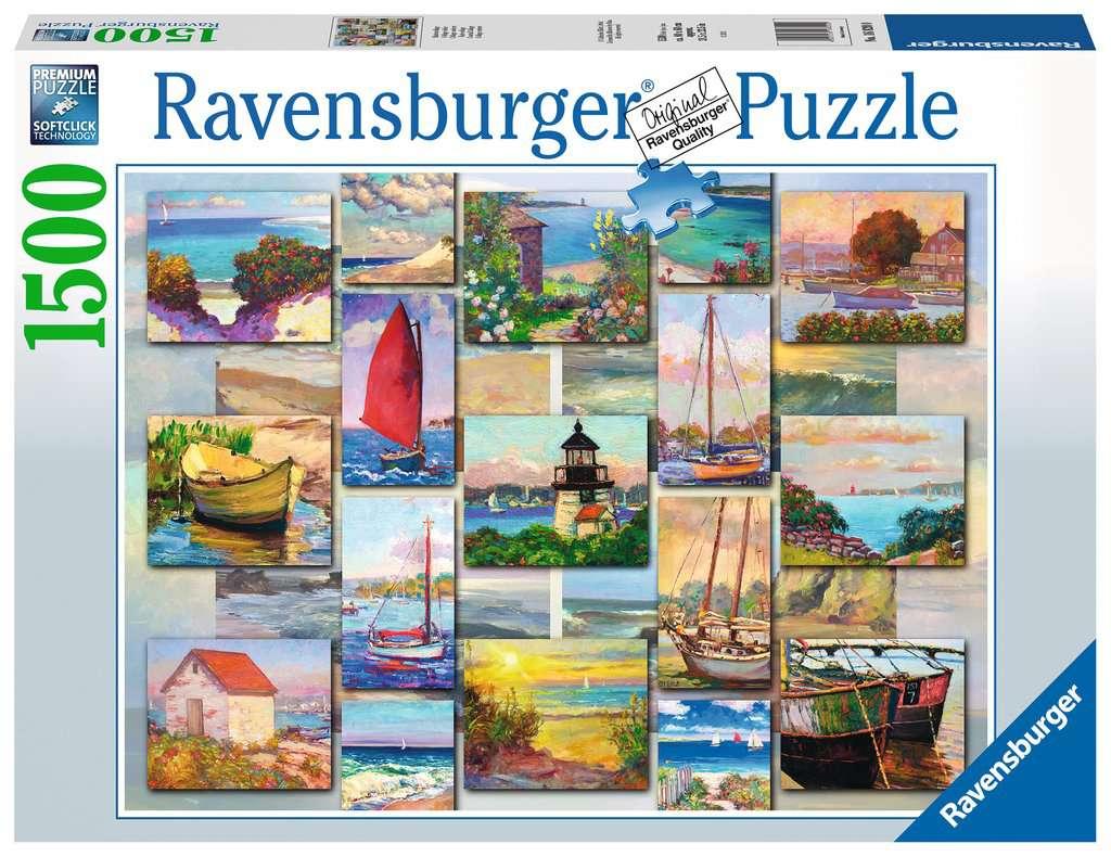 Puzzle Ravensburger Collage Costero de 1500 Piezas
