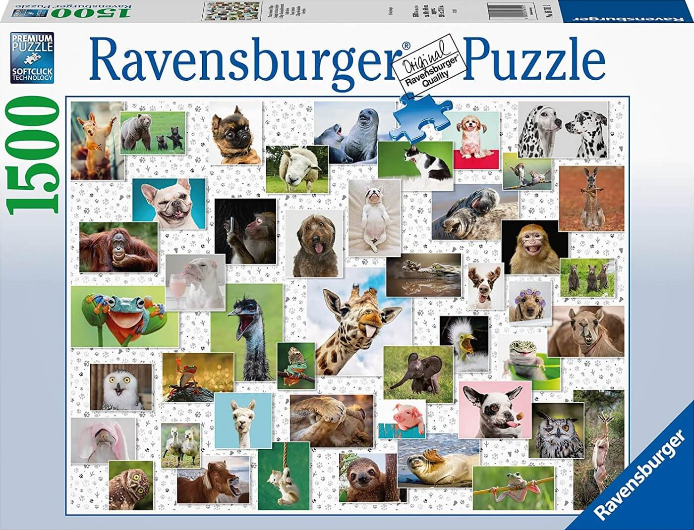 Puzzle Ravensburger Collage de Animales Divertidos de 1500 Pieza
