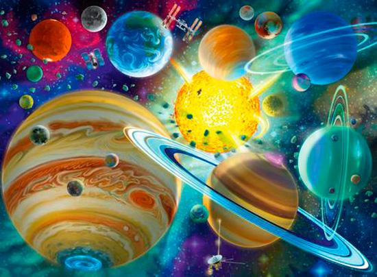 Puzzle Ravensburger Conexión Cósmica XXL de 150 Piezas