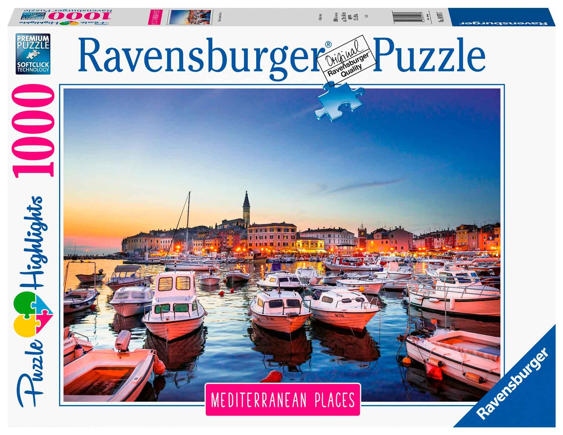 Puzzle Ravensburger Croacia Mediterránea de 1000 Piezas