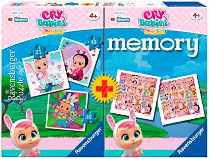 Puzzle Ravensburger Cry Babies 25+36+49 + Memory