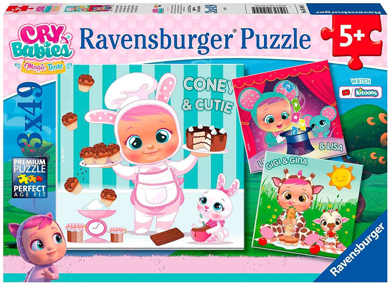 Puzzle Ravensburger Cry Babies de 3x49 Piezas