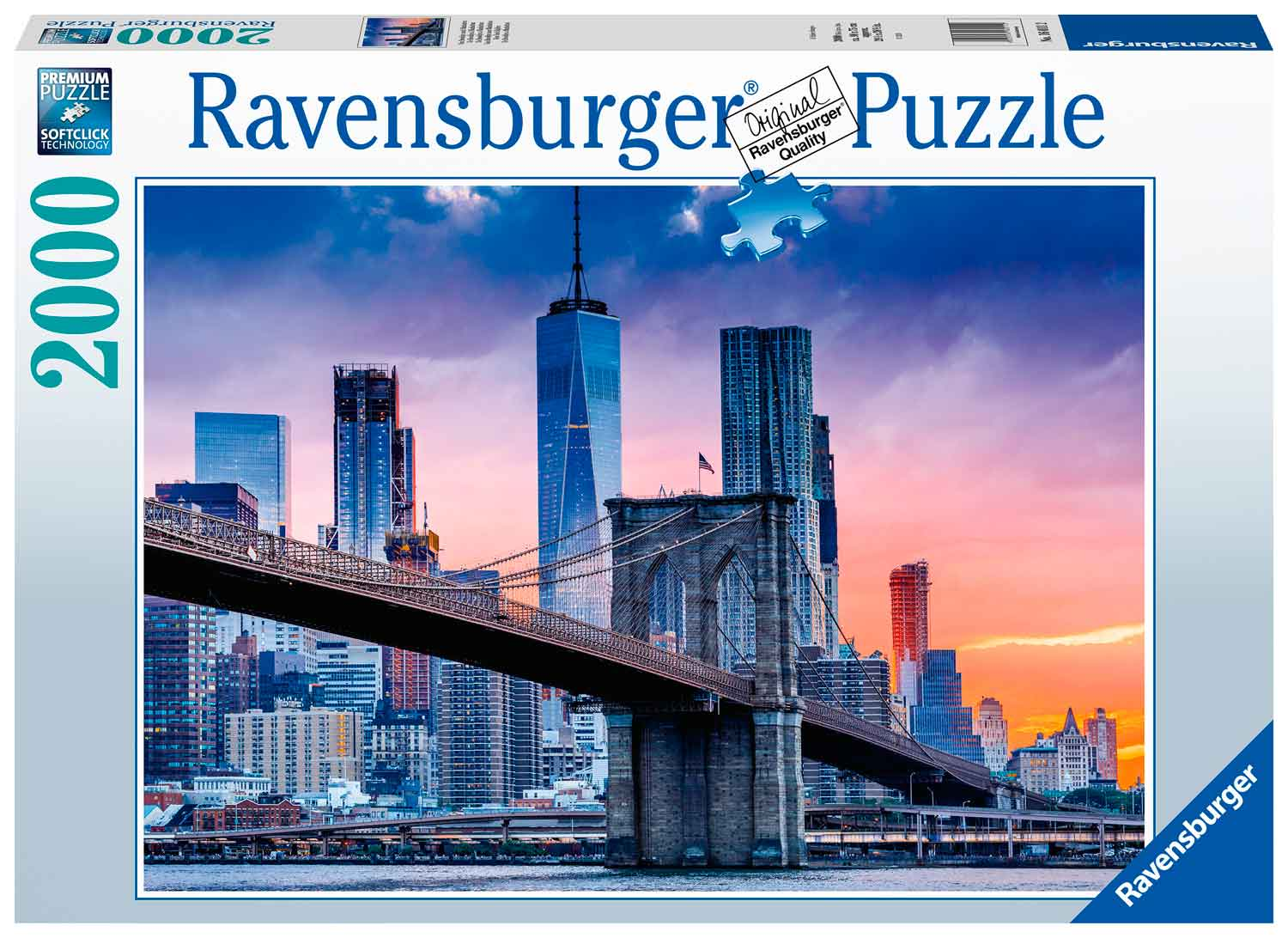 Puzzle Ravensburger De Brooklyn a Manhattan de 2000 Piezas