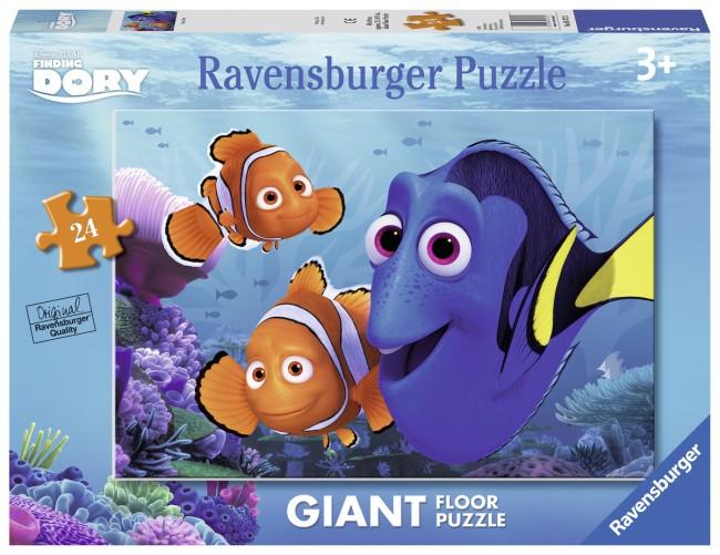 Puzzle Ravensburger de Suelo Buscando a Dory de 24 Piezas