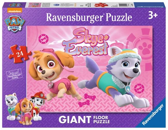 Puzzle Ravensburger de Suelo Patrulla Canica, Skye y Everest de