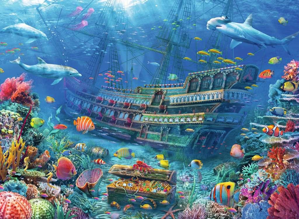 Puzzle Ravensburger Descubrimiento Submarino XXL de 200 Piezas