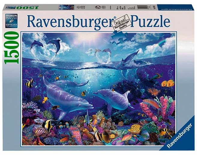 Puzzle Ravensburger Día de los Delfines de 1500 Piezas