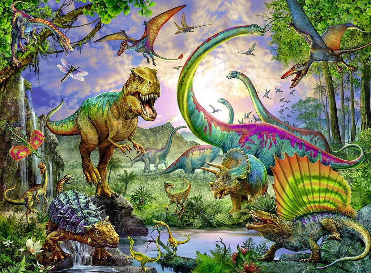 Puzzle Ravensburger Dinosaurios, el Reino de los Gigantes XXL de