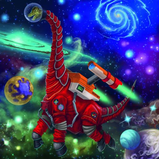 Puzzle Ravensburger Dinosaurios en el Espacio de 3x49 Pzs