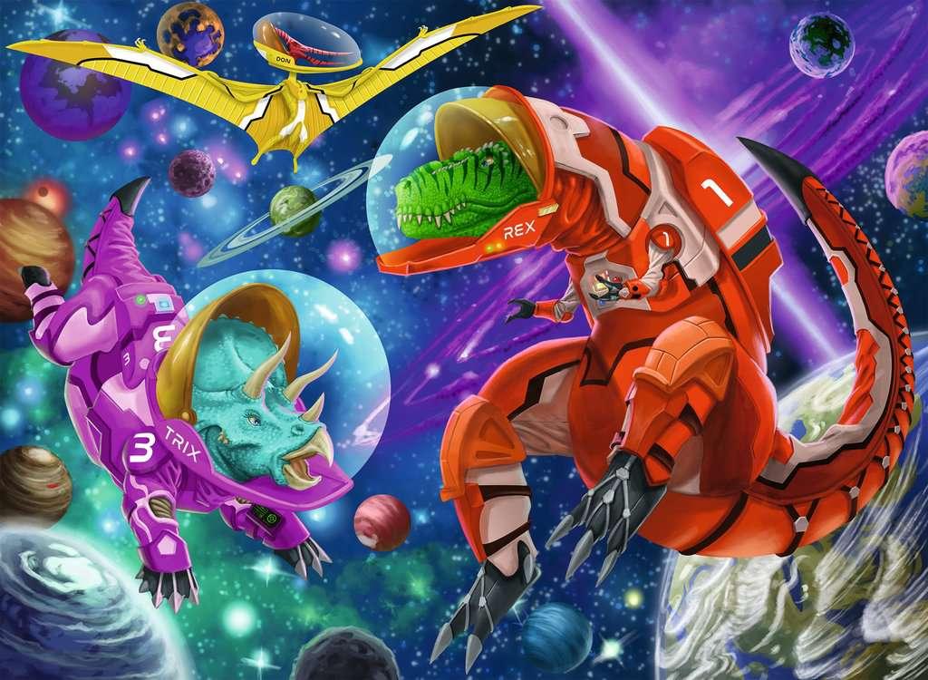 Puzzle Ravensburger Dinosaurios Espaciales XXL de 200 Piezas