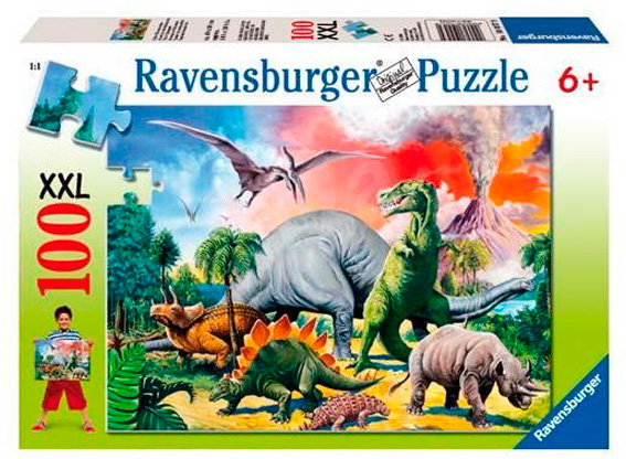 Puzzle Ravensburger Dinosaurios XXL de 100 Piezas