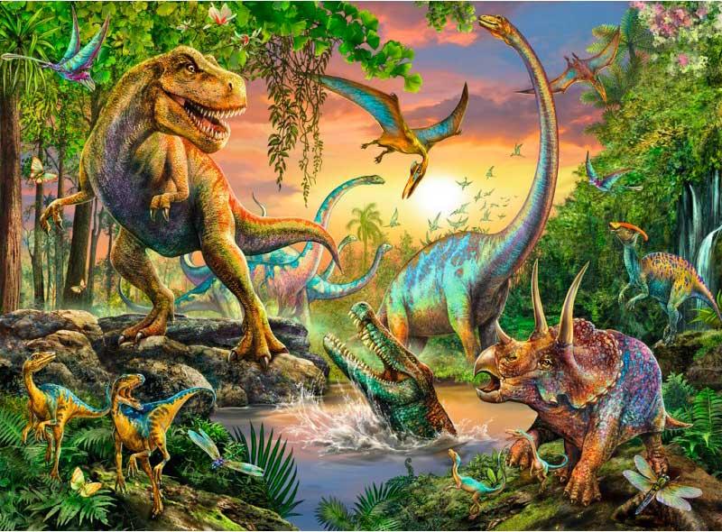 Puzzle Ravensburger Dinosaurios XXL de 200 Pzs