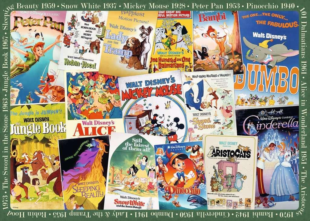 Puzzle Ravensburger Disney Películas Vintage de 1000 Piezas