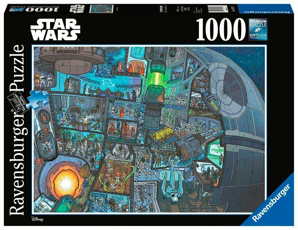 Puzzle Ravensburger Dónde Está el Wookie, Star Wars 1000 Piezas