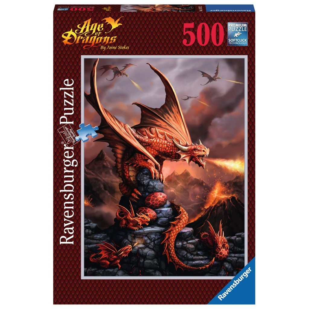 Puzzle Ravensburger Dragón Ardiente de 500 Piezas
