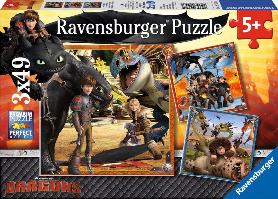 Puzzle Ravensburger Dragones 3 x 49 Piezas 3 x 49 Piezas
