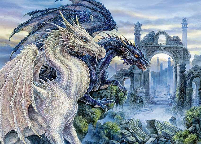 Puzzle Ravensburger Dragones Místicos de 1000 Piezas