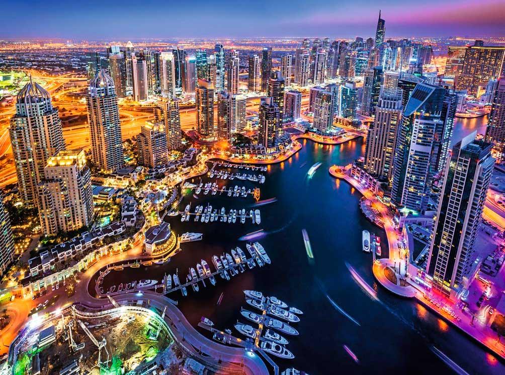 Puzzle Ravensburger Dubai en el Golfo Pérsico, 1500 Piezas
