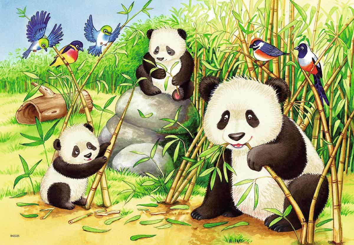 Puzzle Ravensburger Dulces Koalas y Pandas de 2x24 Piezas