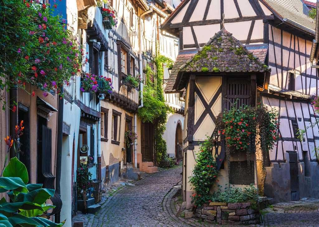 Puzzle Ravensburger Eguisheim en Alsacia, Francia de 1000 Piezas
