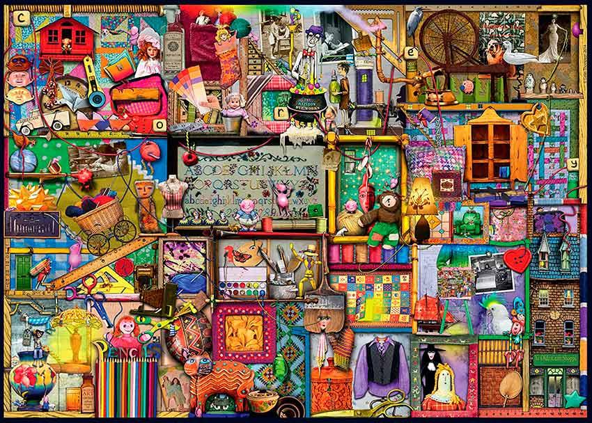 Puzzle Ravensburger El Armario de Artesanía 1000 Piezas