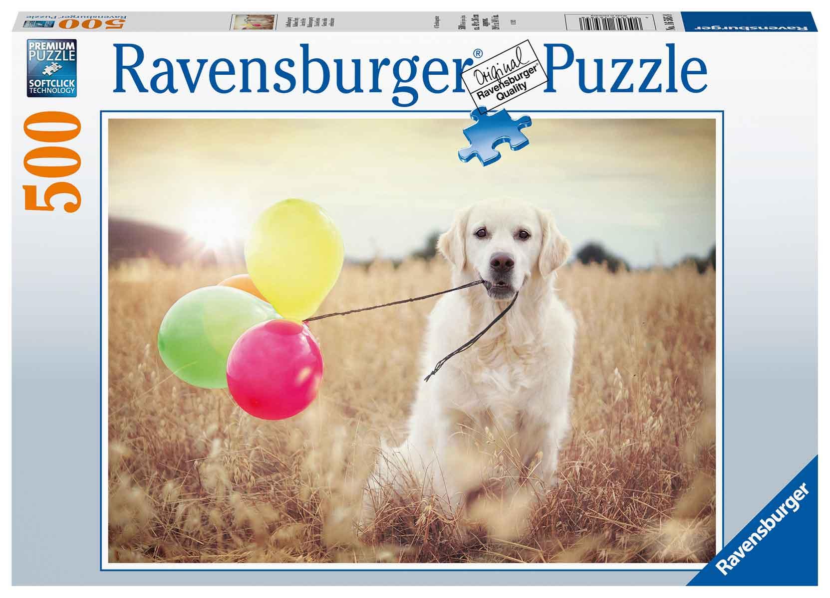Puzzle Ravensburger El Labrador y Los Globos de 500 Piezas