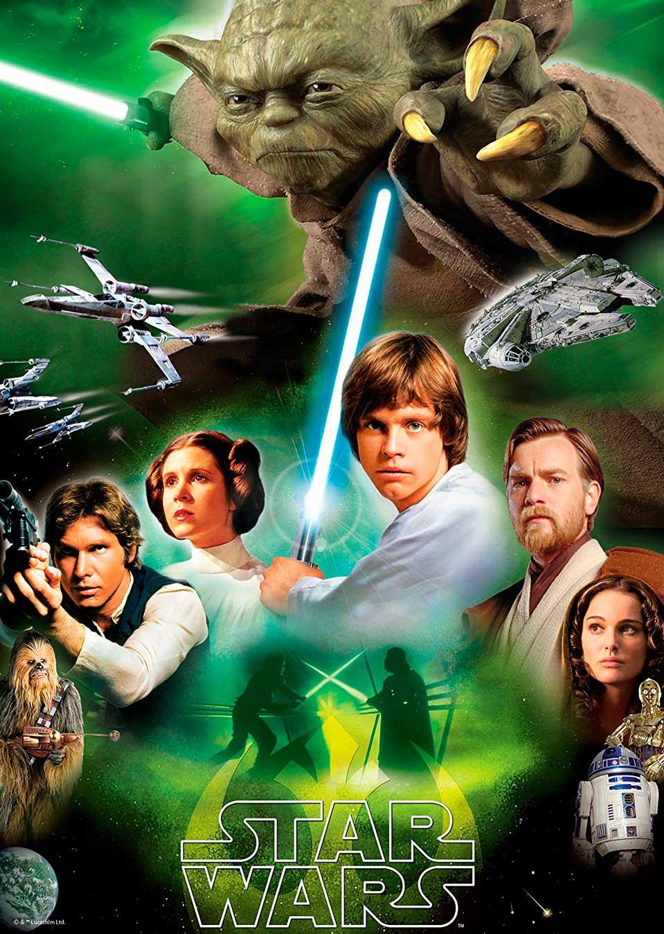 Puzzle Ravensburger El Lado Luminoso, Star Wars 1000 Piezas