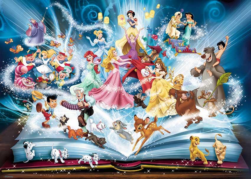 Puzzle Ravensburger El Libro Mágico de Cuentos Disney de 1500 Pi