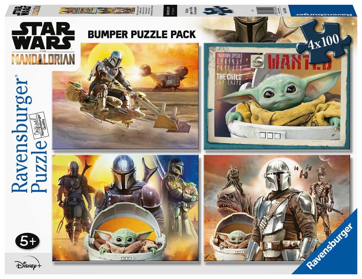 Puzzle Ravensburger Star Wars El Mandaloriano de 4 x 100 Pzs