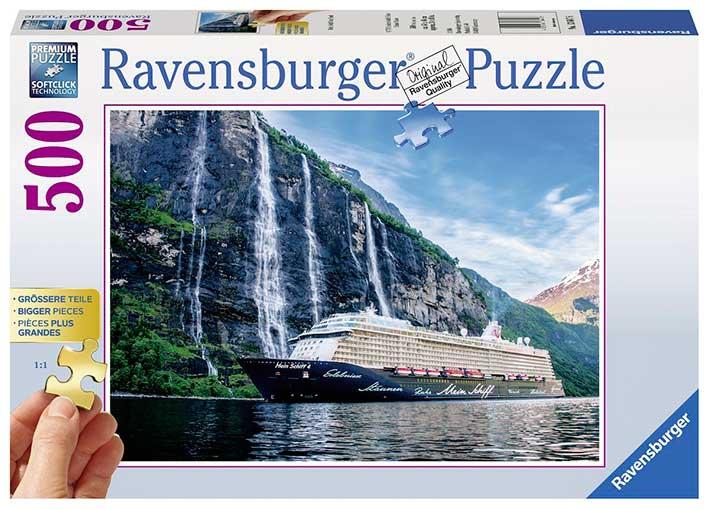 Puzzle Ravensburger El Mein Schiff 4 en el Fiordo de 500 Piezas