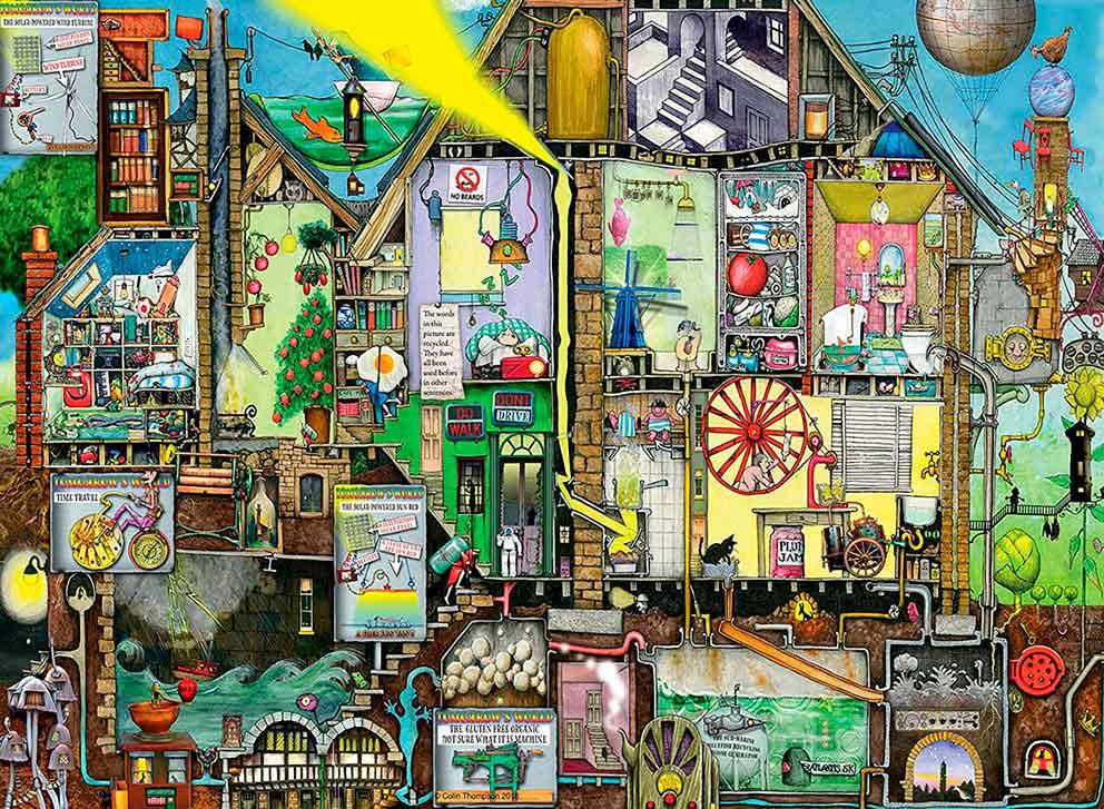 Puzzle Ravensburger El Mundo Futuro 500 Piezas