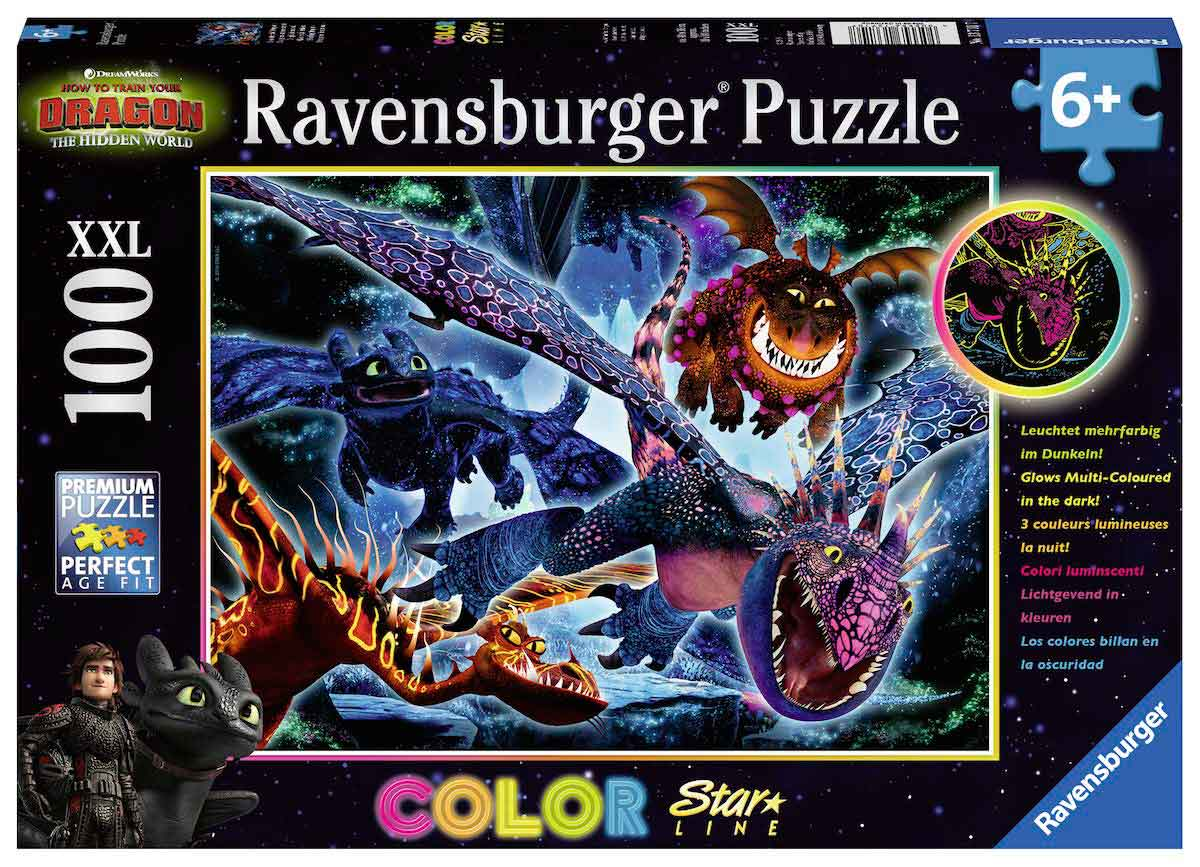 Puzzle Ravensburger CEATD3 El Mundo Oculto de Dragones B XXL 100