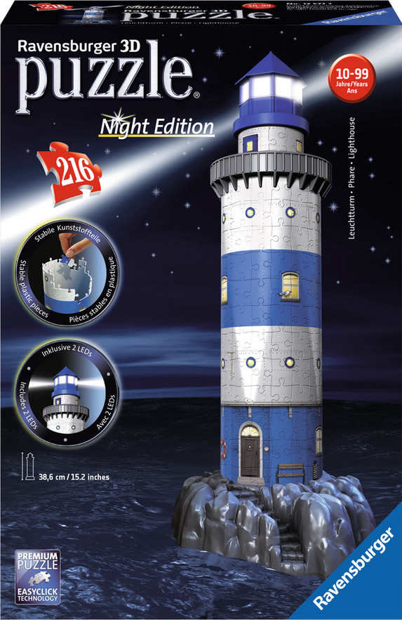 Puzzle Ravensburger El Nuevo Faro 3D Night Edition 3D 216 Piezas