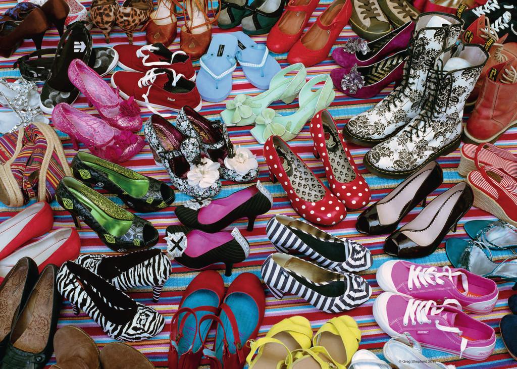 Puzzle Ravensburger El Paraíso de los Zapatos de 1000 Piezas
