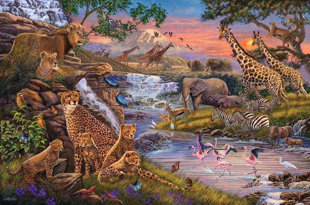 Puzzle Ravensburger El Reino Animal de 3000 Piezas