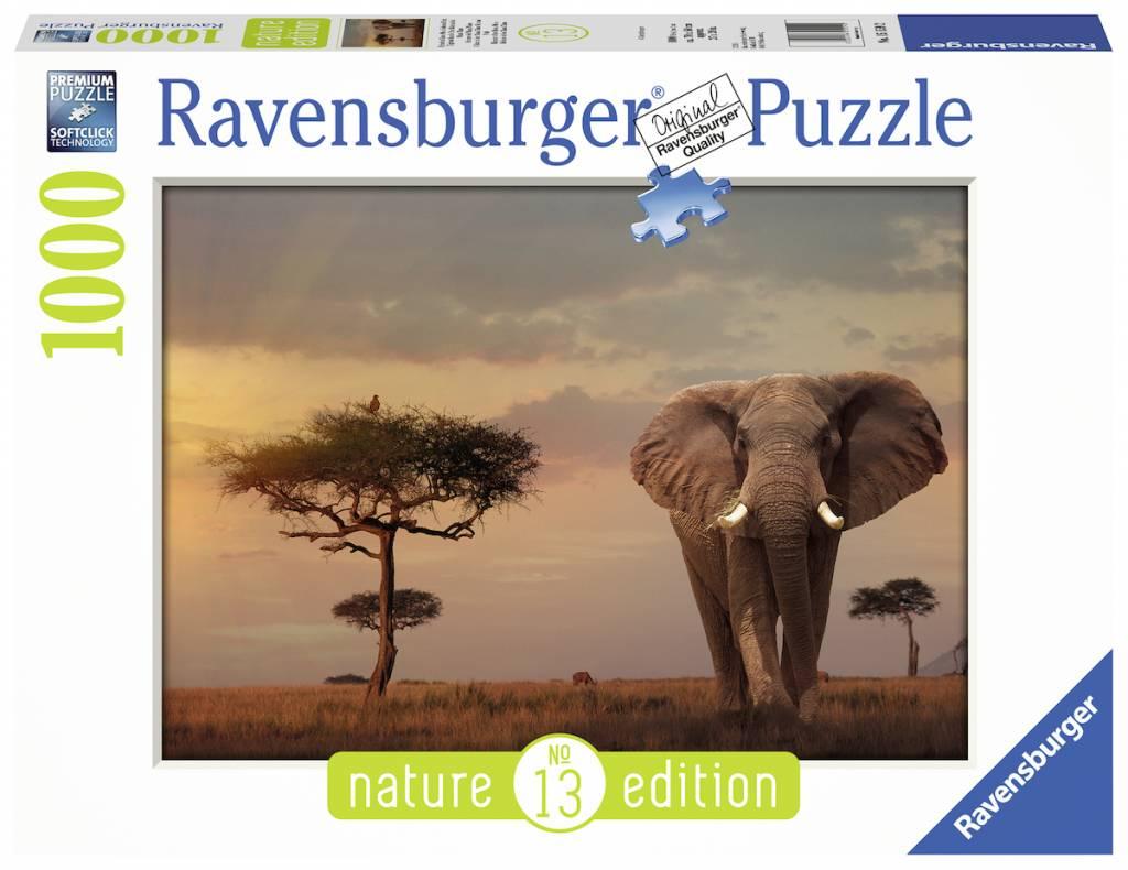 Puzzle Ravensburger Elefante de los Masai Mara de 1000 Piezas