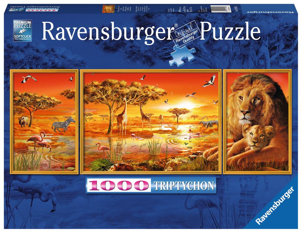 Puzzle Ravensburger Emoción Africana de 1000 Piezas