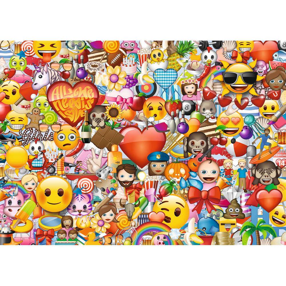 Puzzle Ravensburger Emoji, los Emoticonos 1000 Piezas