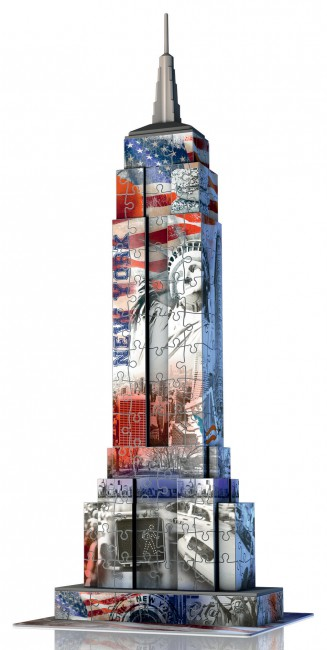 Puzzle Ravensburger Empire State Building 3D Flag Edition 3D 216